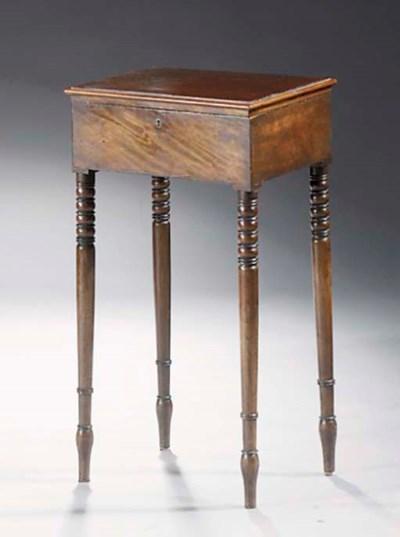 A Victorian mahogany work tabl