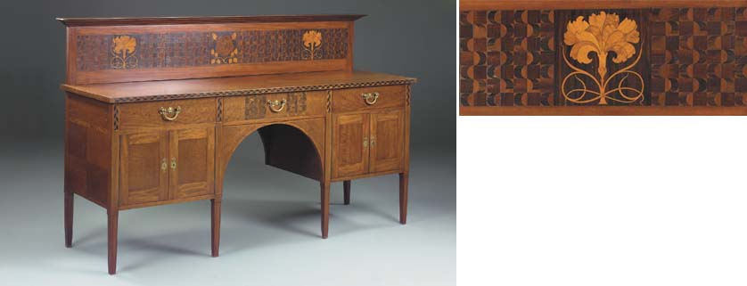 An Inlaid Mahogany Sideboard