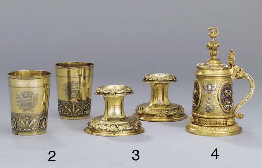 A pair of German silver-gilt s