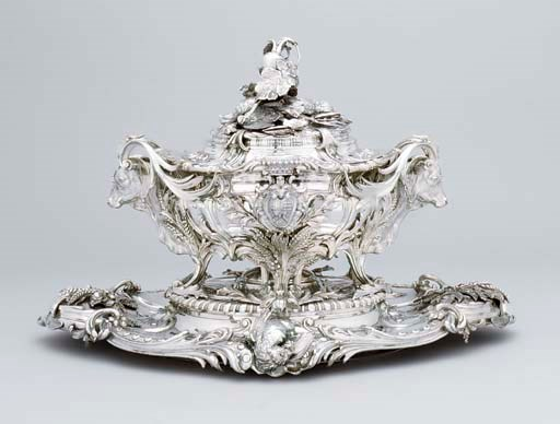 A French soup-tureen, cover an