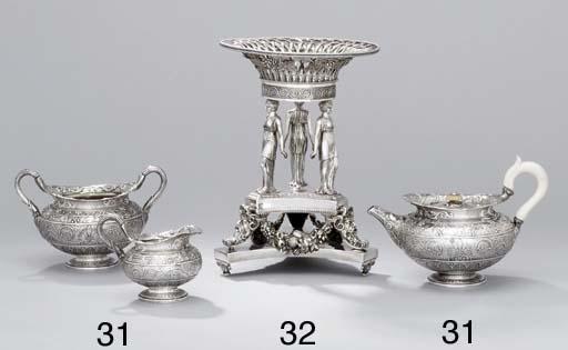 A George IV silver three-piece