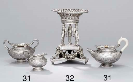 A George III silver dessert-st