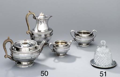 A George III silver honey-pot