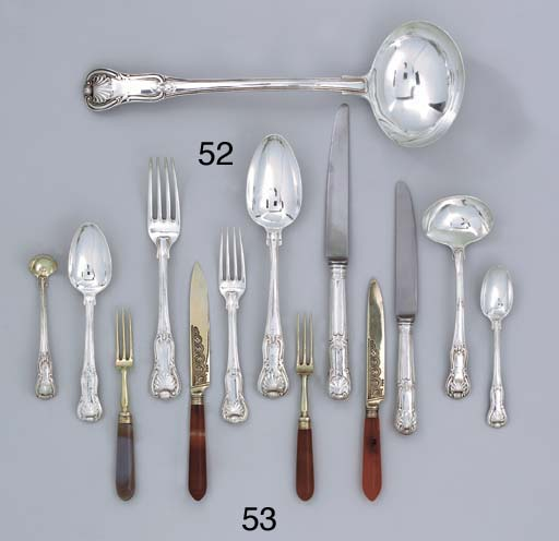 A George III silver table-serv