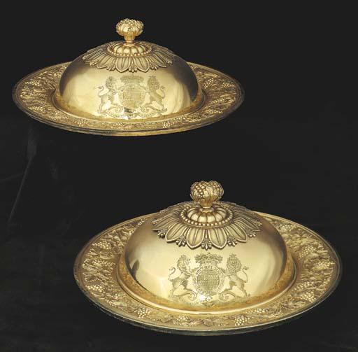 A pair of George III silver-gi
