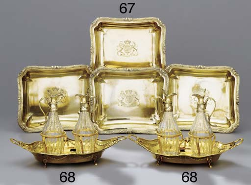 A pair of George III gilt-copp