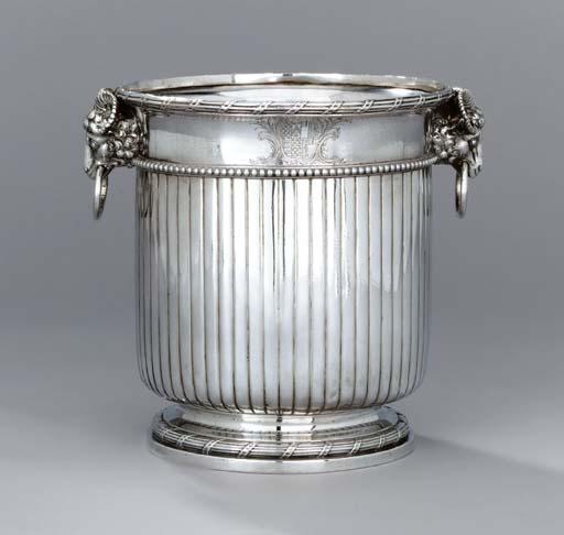A George III silver wine-coole