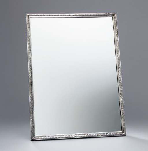 A George II silver-framed mirr