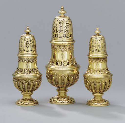 A set of three Queen Anne silv