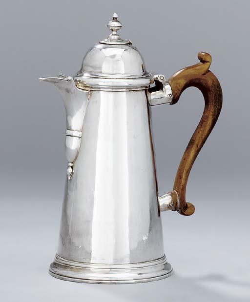 A George I silver chocolate-po