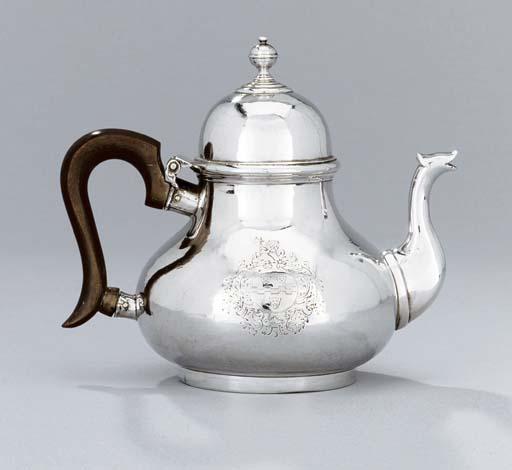 A Queen Anne silver teapot