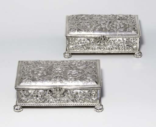 A pair of Charles II silver ca