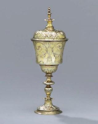 An Elizabeth I silver-gilt cup