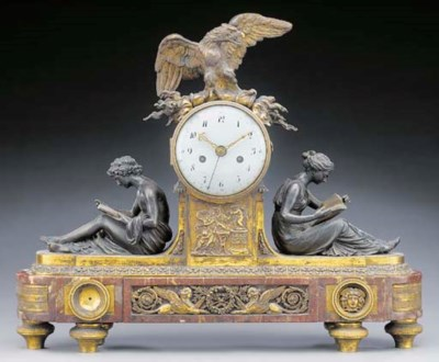 A LOUIS XVI ORMOLU, PATTINATED