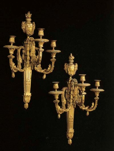 A PAIR OF LOUIS XVI ORMOLU THR