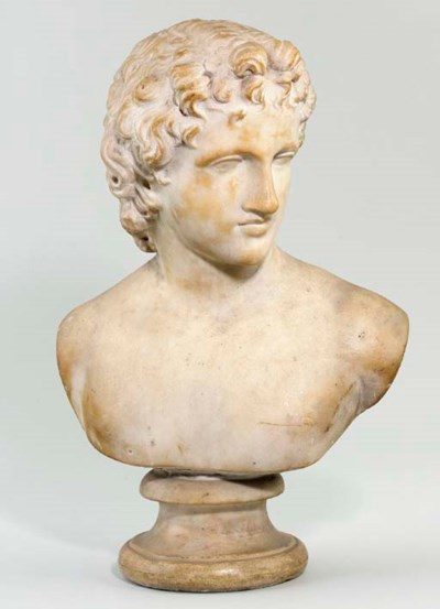 A MARBLE BUST OF A BOY