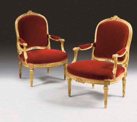 A PAIR OF LATE LOUIS XV GILTWO