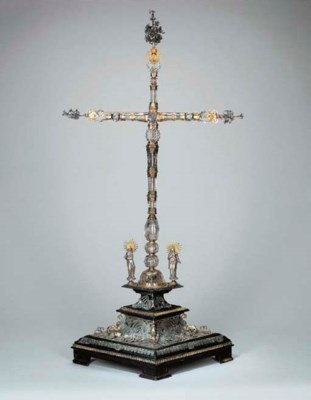 A SILVER AND SILVER-GILT-MOUNT