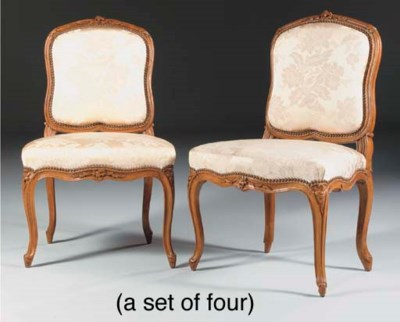 A SET OF FOUR LOUIS XV BEECHWO