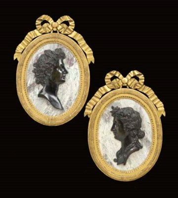 A PAIR OF LOUIS XIV PATINATED