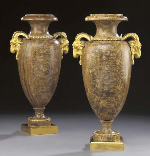 A PAIR OF ORMOLU-MOUNTED ALABA