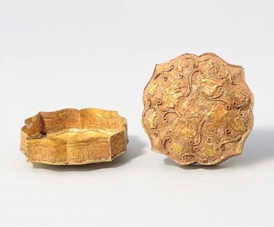 A REPOUSSÉ GOLD BOX AND COVER