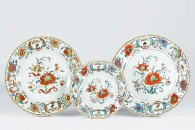 TWO 'MADAME DE POMPADOUR' DISH
