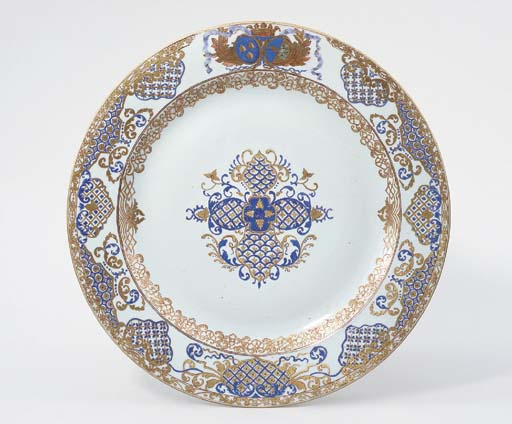 AN ARMORIAL DISH FOR THE SWEDI