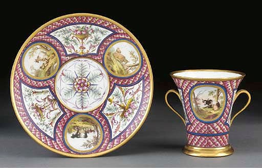 A Sevres (hard paste) flared t