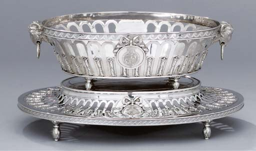 A George III silver fruit-bask