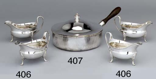 A George II silver saucepan an
