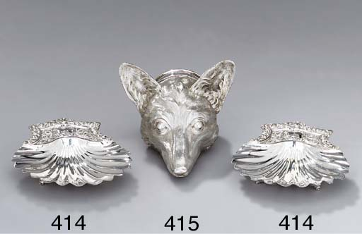 A pair of William IV silver bu