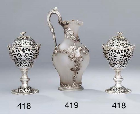 A pair of Victorian silver sug