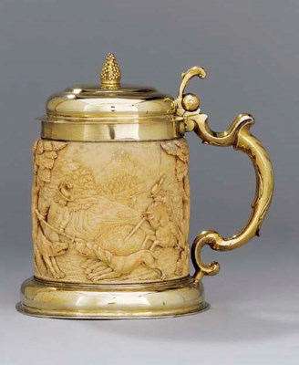 A German silver-gilt mounted i