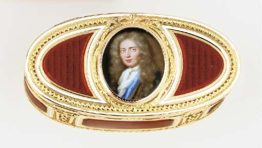 A LOUIS XV ENAMELLED TWO-COLOU