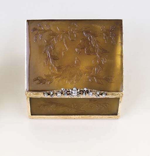 A GERMAN ROCOCO JEWELLED GOLD