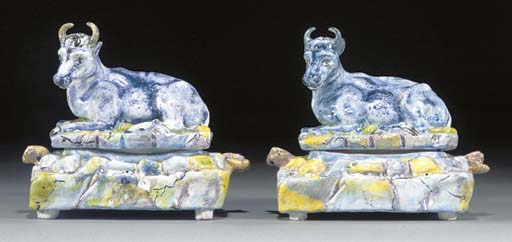 Two Eckernforde cow-tureens an