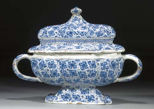 A Brunswick blue and white two