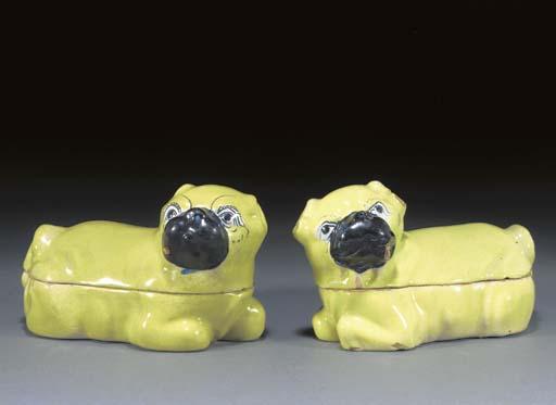 A pair of Erfurt pug tureens a