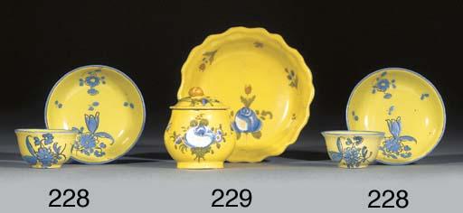 A pair of Flörsheim yellow-gro