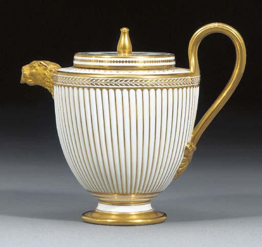 A Sevres (hard paste) teapot a
