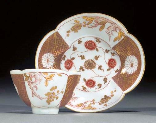 A Meissen Imari-pattern quatre