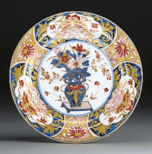 A Meissen Imari-pattern deep plate