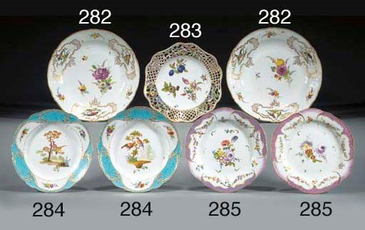 A pair of Meissen plates of Sc