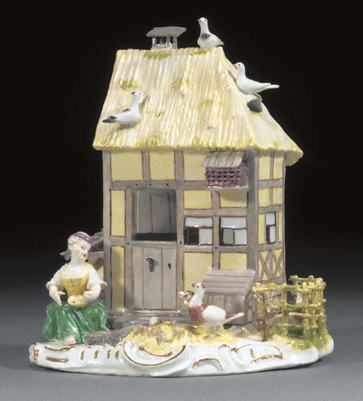 A Meissen model of a cottage