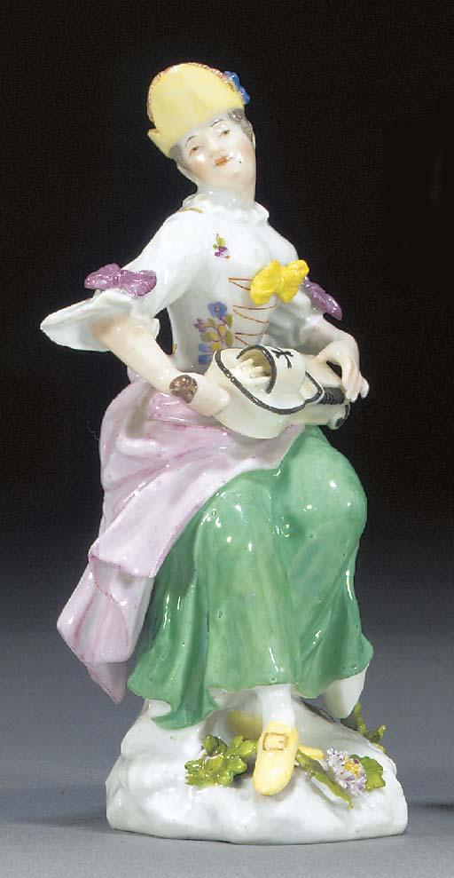 A Meissen figure of Columbine