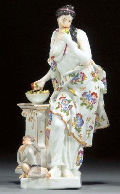 A Meissen model of 'Taste' fro