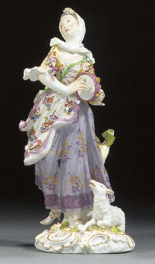 A Meissen figure of a dancing