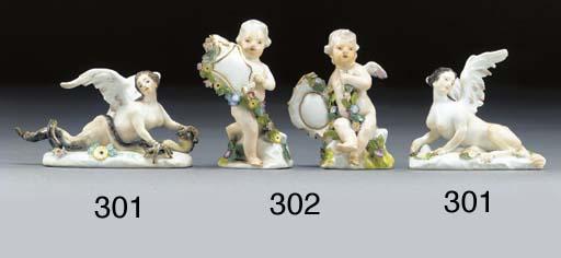 Two Meissen figures of harpies