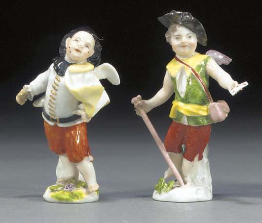 Two Meissen figures of Cupid i